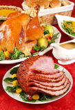 Honey glazed ham stock photography