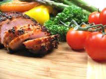 Honey Glazed Ham And Vegetables Royalty Free Stock Photo
