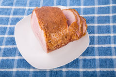 Honey Glazed Ham Sliced Royalty Free Stock Photography