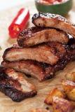 Honey glazed pork ribs Stock Images