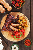 Honey glazed pork ribs Stock Photography