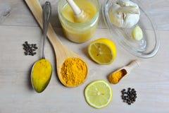 Honey Golden Turmeric stockbilder