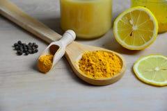 Honey Golden Turmeric lizenzfreie stockbilder