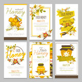 Honey Hand Drawn Posters Collection Ilustración del Vector