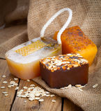 Honey handmade soap Stock Image