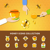 Honey And Hands Composition Stock Image