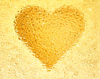 Honey heart Stock Photo