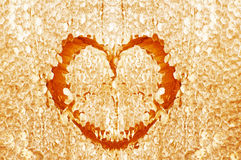 Honey heart Royalty Free Stock Photography