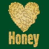 Honey heart Royalty Free Stock Photography