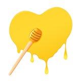 Honey in heart-shaped Royalty Free Stock Photo