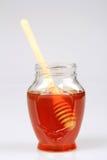Honey and Honey Dipper Stock Photos