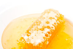 Honey with honeycomb Stock Photos