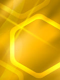 Honey honeycomb glow theme brochure cover page Royalty Free Stock Image