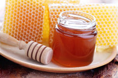 Honey with honeycomb Royalty Free Stock Photography