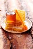 Honey with honeycomb Royalty Free Stock Photos