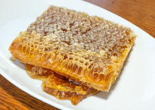 Honey in honeycomb Royalty Free Stock Photography