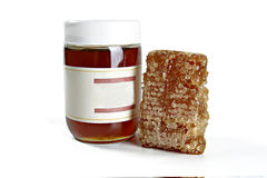 Honey with honeycombs Royalty Free Stock Photo