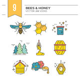 Honey Icon Collection Stock Photography