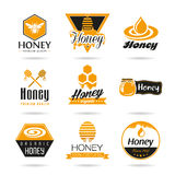 Honey icon set Royalty Free Stock Images