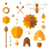 Honey. Icon set Stock Photo
