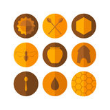Honey. Icon set Stock Images