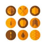 Honey. Icon set Stock Images