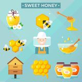Honey Icons Photo libre de droits