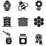Honey Icons Immagine Stock