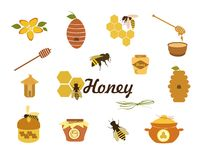 Honey Icons Photos stock
