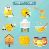 Honey icons. Royalty Free Stock Photo