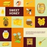 Honey Icons Set doux Photo libre de droits