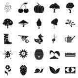 Honey icons set, simple style. Honey icons set. Simple set of 25 honey icons for web isolated on white background Stock Images