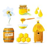 Honey Icons Set Royalty Free Stock Image