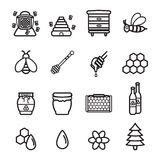 Honey icons set. Vector eps 10. Honey icons set. Vector eps 10 Stock Images