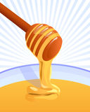 Honey illustration background Royalty Free Stock Photography