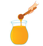 Honey. Illustration of a jar of honey Stock Images