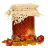 Honey In Glass Jar Stock Photography