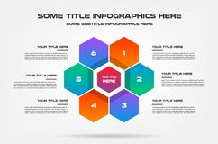 Honey infographics with icons. Element of chart, graph, diagram with 2 options - parts, processes, timeline. Vector. Business template for presentation Stock Photography