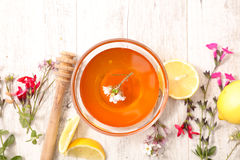 Honey with ingredient Stock Images