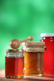 Honey and jam Royalty Free Stock Images