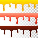 Honey jam chocolate seamless transparent drips Royalty Free Stock Photo