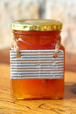 Honey Jar. With a tag Royalty Free Stock Photo