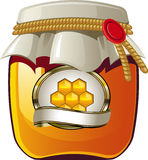 Honey jar royalty free illustration