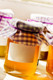 Honey in a jar Stock Photos