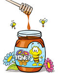 Honey jar Stock Image