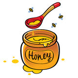 Honey Jar Fotografie Stock