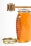 Honey in jar Royalty Free Stock Photo