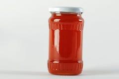 Honey Jar Curiosidad de la miel en el tarro y la cera de cristal de los panales Imágenes de archivo libres de regalías
