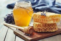 Honey in jar Royalty Free Stock Image