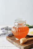 Honey in jar Stock Photo